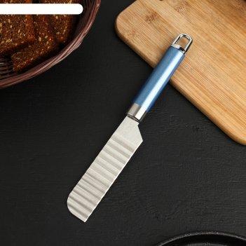 Нож для фигурной нарезки lagoona, 19 см, нержавеющая сталь, цвет голубой м