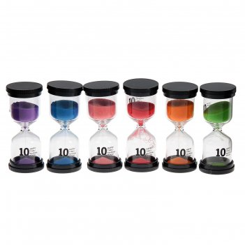 Часы песочные happy time, круглые, 10 минут, микс песка 4*11см