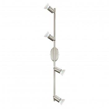 Светильник buzz-led 4x2,5вт led никель 68,5x6,5см