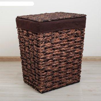 Корзина для белья плетеная прямоугольная классика 45х36х55 см, большая