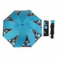 Зонт механический, r=55см, цвет голубой