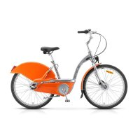 Велосипед 26 stels navigator-270, размер 17,5, цвет: серый/оранжевый