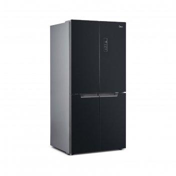 Холодильник midea mrc518sfngbl, двухкамерный, класс а+, 544 л, no frost, ч