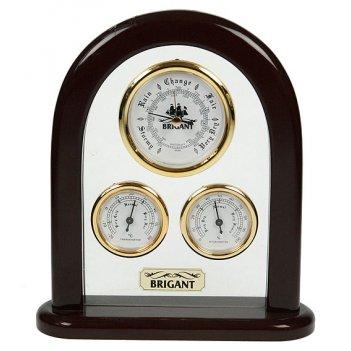 Метеостанция настольная brigant: барометр, термометр, гигром