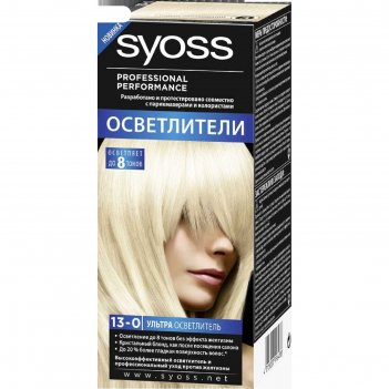 Крем-краска для волос syoss color, тон 13-0, ультра осветлитель