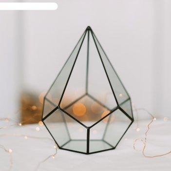 Флорариум пирамидка малая (швы черные)