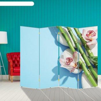 Ширма бамбук. декор 12 200 x 160 см, двухсторонняя