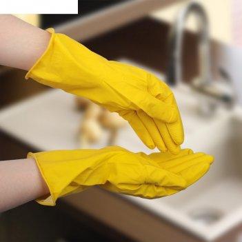 Перчатки хозяйственные прочные, размер m, цвет микс
