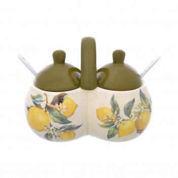 Банка для специй с ложками лимоны