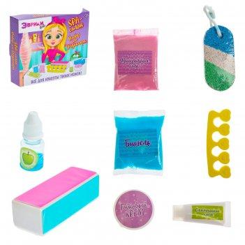 Опыты для девочек эврики: girls «spa-салон. набор для педикюра»
