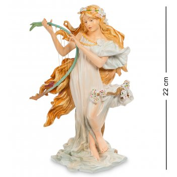 Pr-muc04 статуэтка девушка весна альфонса мухи (museum.parastone)