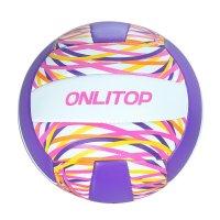 Мяч волейбольный onlitop v5-27 р.5 18 панелей, pvc, 2 под. слоя, машин. сш