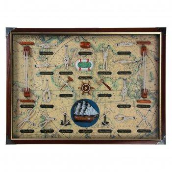 Картина в раме морские детали