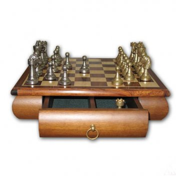 Шахматы 33х33 big staunton (6-8см) italfama (грецкий орех, бронза, олово)
