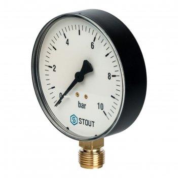Манометр stout sim-0010-101015, радиальный, dn100, g1/2