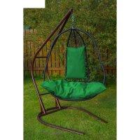 Подвесное кресло на стойке корфу, черное/зелёная