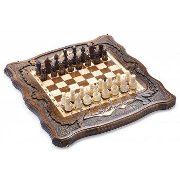 Шахматы + нарды резные вольные горы 60, harutyunyan
