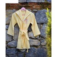 Халат детский young с вышивкой, 9-11 лет, цвет жёлтый 2951