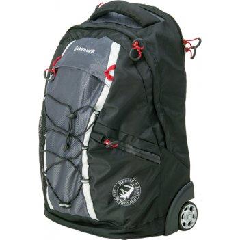 Рюкзак на колёсах wenger цв. т.чёрныйсерый, полиэстер 900d