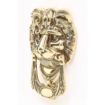 Дверной молоток лев, 10х17см