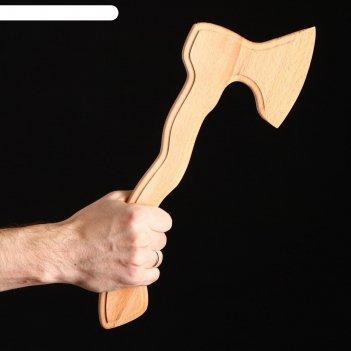 Сувенир деревянный топор фигурный, 40 х 15 см, массив бука