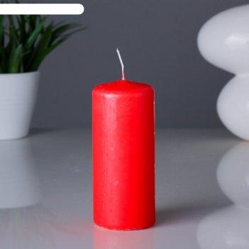 Свеча пеньковая 11,5х5см красная