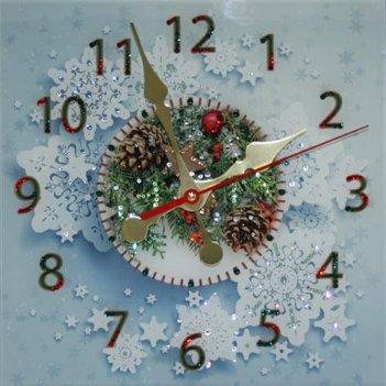 Картина сваровски - часы новогодние