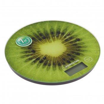 Весы кухонные электронные homestar hs-3007, до 7 кг, стекло, зеленые
