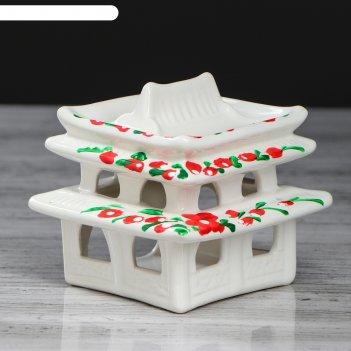 Аромалампа китайский домик белый