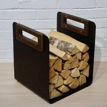 Дровник grey stone woodbox handle, товары для загородного дома