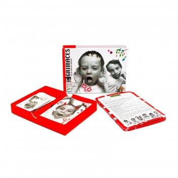 Детская настольная  карточная  игра гримасы