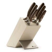 Набор кухонных ножей 6 штук на деревянной подставке, серия epicure, wuesth