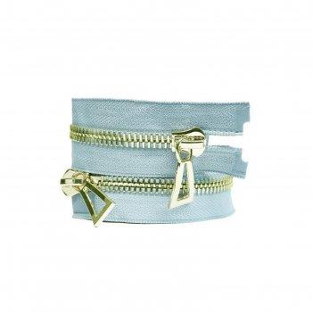 Молния для одежды, №10, 100 см, голубой