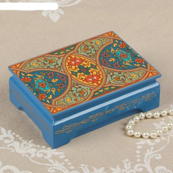 Шкатулка «узбекские мотивы», 10x14 см, лаковая миниатюра