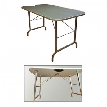 Стол для груминга складной до 90 кг, 100,5 х 60 х 60 см, покрытие резина н