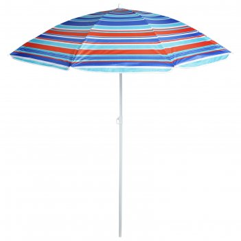 Зонт пляжный модерн с серебряным покрытием, d=180 cм, h=195 см, микс