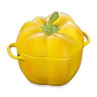 Кокот «перец», объем: 0,5 л, диаметр: 12 см, материал: керамика, цвет: жел