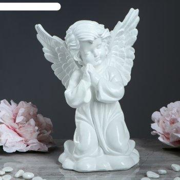 Статуэтка ангел с крыльями белая