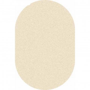 Ковёр фризе пп platinum t600, 2*4 м, овал, cream