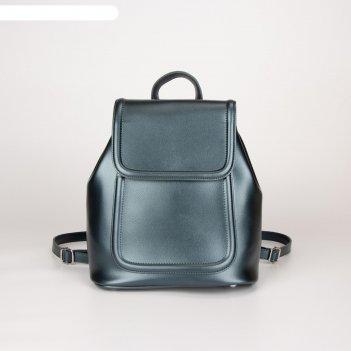 Рюкзак, отдел на клапане, цвет синий