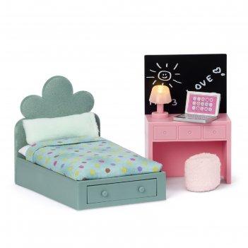 Набор мебели для домика «комната подростка», кровать и компьютерный стол
