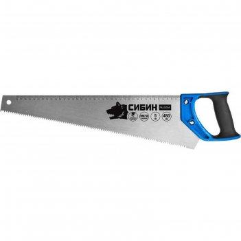 Ножовка по дереву сибин 15055-45, 450мм, шаг 5tpi (4,5мм), алмазная заточк