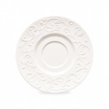 Блюдце для чайной чашки «чистый опал рельеф», диаметр: 16,5 см, материал: