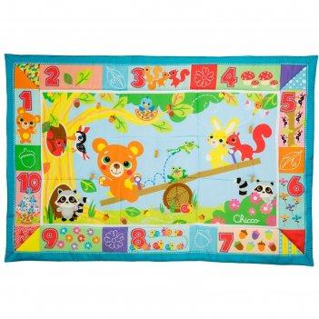 Игровой коврик chicco xxl «лесные друзья», цвет зеленый