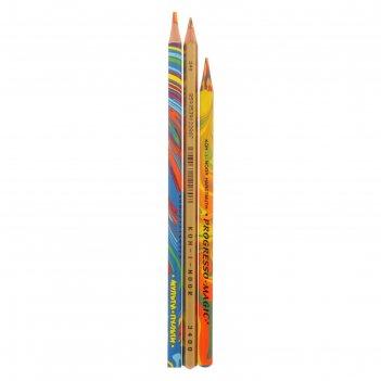 Набор 3 шт карандаши с многоцветным грифелем k-i-n (1181214, 1181215, 2474