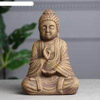 Статуэтка будда под коричневый камень, 28 см