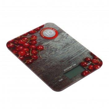 Весы кухонные polaris pks 1046 dg, электронные, до 10 кг, стеклянная платф