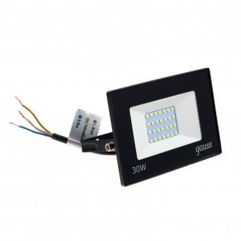 Прожектор светодиодный gauss elementary, 30 вт, ip65, 6500 к, 2100 лм, хол