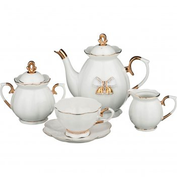 Чайный сервиз на 6 персон 15 пр. со стразами 950/2...код