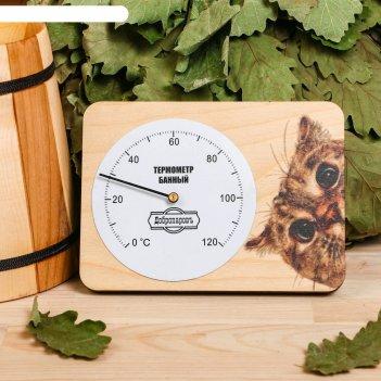 Термометр для бани  котейка, 15,2х11см, добропаровъ